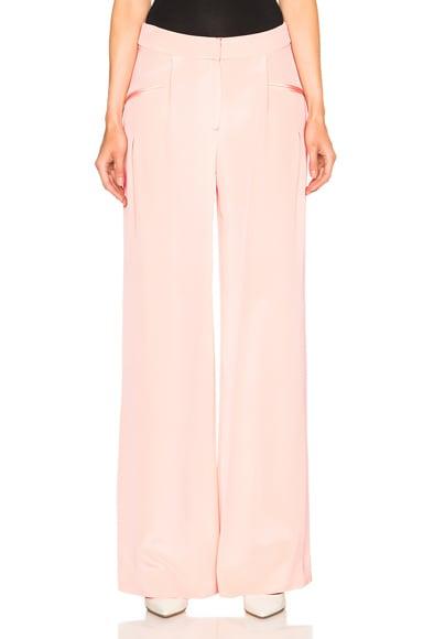 Cushnie et Ochs Silk Crepe Trousers in Peach