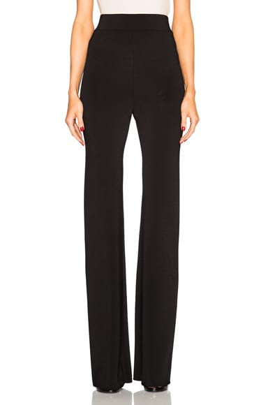 Cushnie et Ochs Viscose Trousers in Black