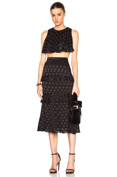 Silk Dot Skirt