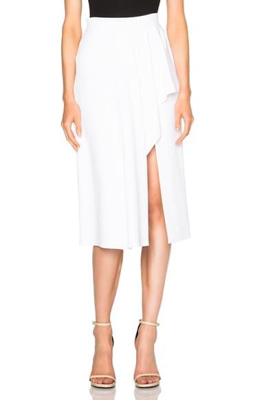 Cushnie et Ochs Stretch Cady Skirt in White