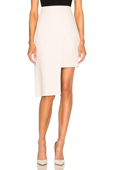 Cushnie et Ochs Stretch Cady Skirt in Blush