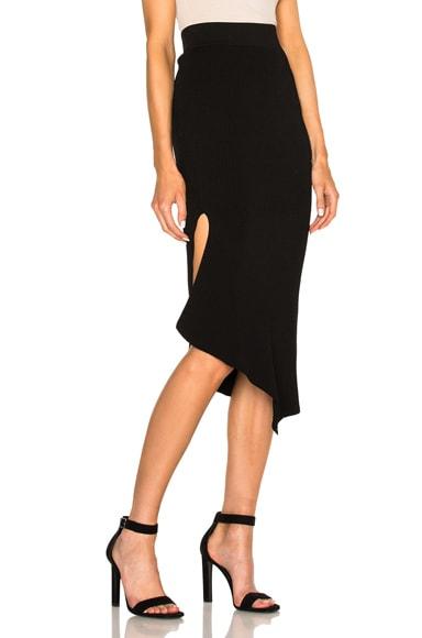 Cushnie et Ochs Asymmetrical Skirt in Black