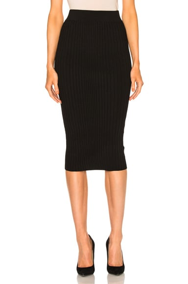 Cushnie et Ochs Crisscross Waistband Pencil Skirt in Black