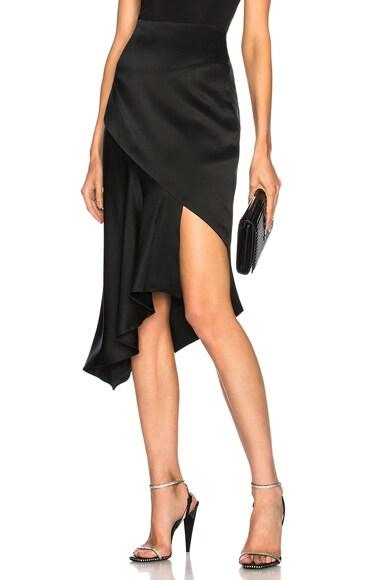 Asymmetrical Cascade Hem Skirt