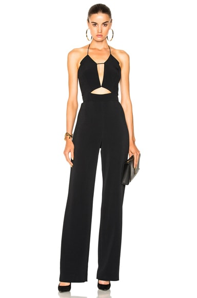 Straight Leg Cut Out Jumpsuit