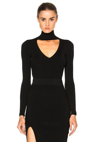 Cushnie et Ochs Turtleneck Bodysuit in Black