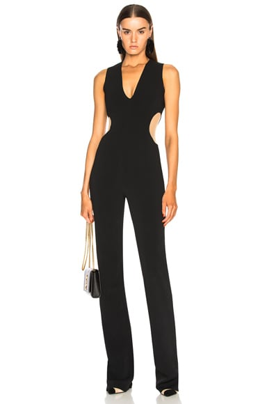 Circle Cutout V Neck Jumpsuit
