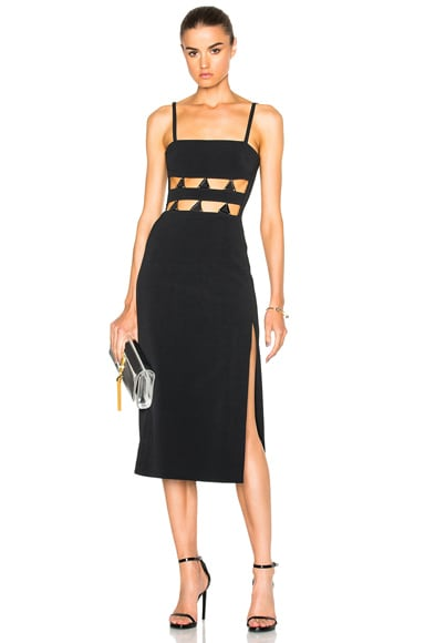 David Koma for FWRD Metal Midriff Mini Dress in Black