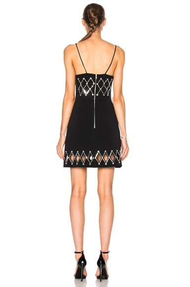 Diamond Plexi & Crystals V-Cut Dress