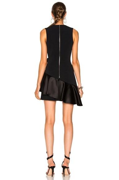 V-Neck Overlap Asymmetric Ruffle Hem Dress