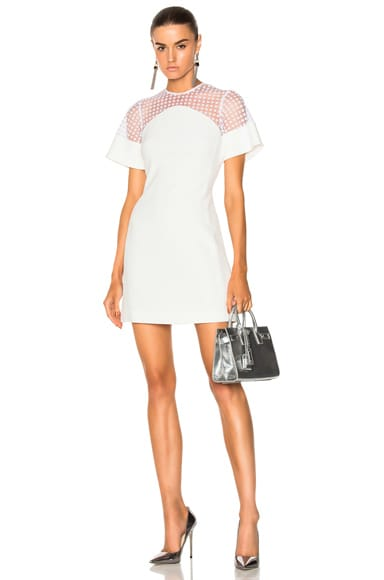 Short Flock Sleeve Mini Dress