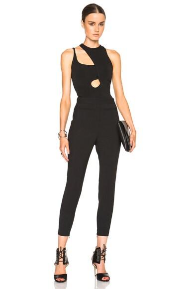 Asymmetric Cut Outs Strap Bodysuit
