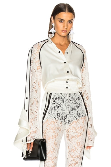 Lace Sleeve Ruffle Jacket