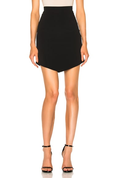 David Koma Asymmetric Hem Skirt in Black