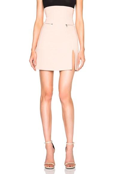 David Koma Zip Pocket Split Hem Skirt in Pink