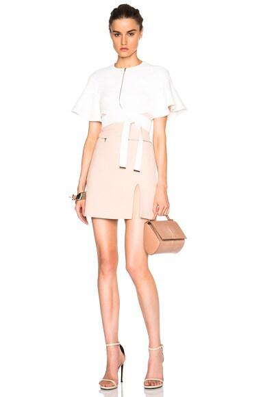 Zip Pocket Split Hem Skirt