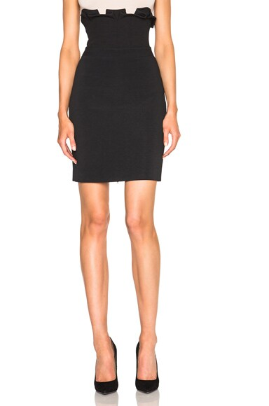 David Koma High Waisted Ruffle Mini Skirt in Black