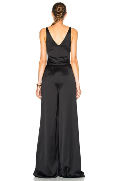 Ruched Bra Wide Trouser Jumpsuit