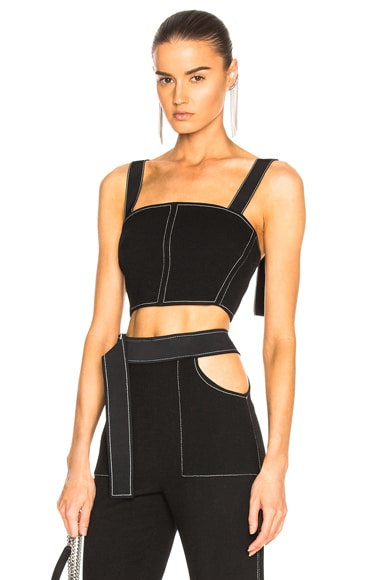 Contrast Stitching Bustier