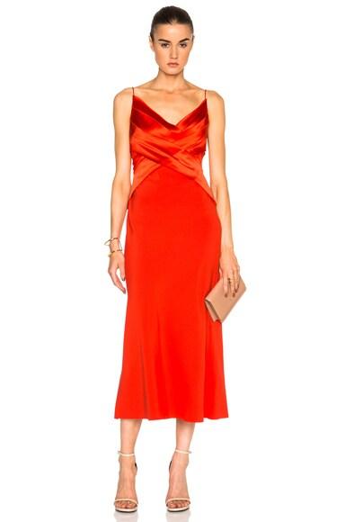 Silk Satin Bias Weave Dress