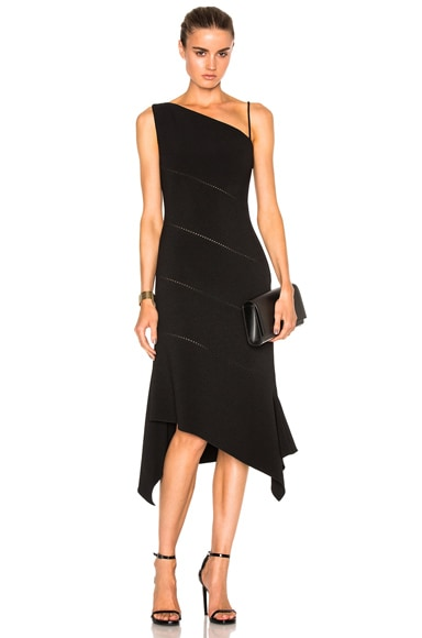 Dion Lee Bonded Crepe Bustier Dress in Black