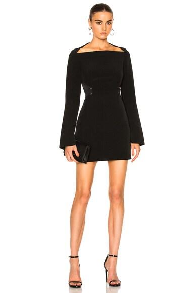 Dion Lee Mesh Stripe Mini Dress in Black