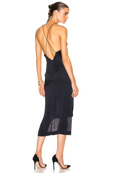 Satin Fine Line Cami Dress