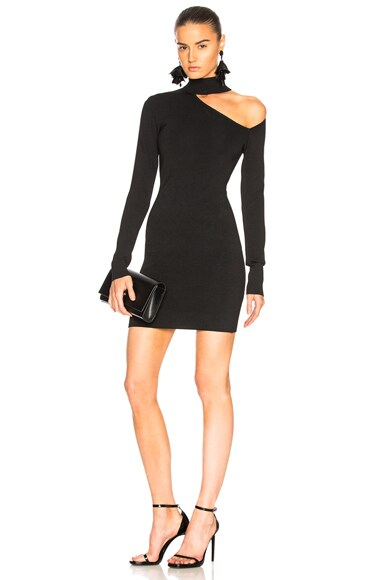 Spiral Sleeve Mini Dress