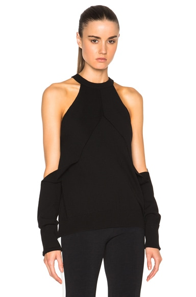 Dion Lee Sleeve Release Sweater in Black