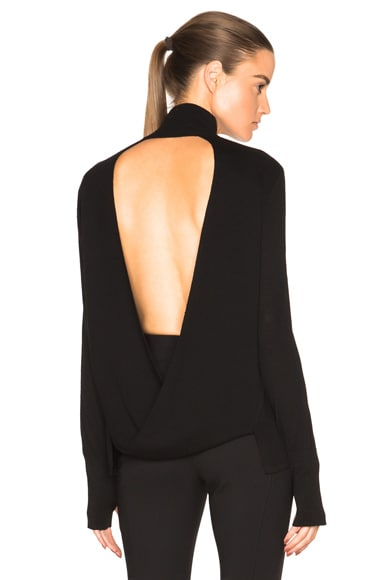 Dion Lee Loop Back Skivvy Sweater in Black