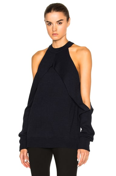 Dion Lee Merino Sleeve Release Knit in Midnight