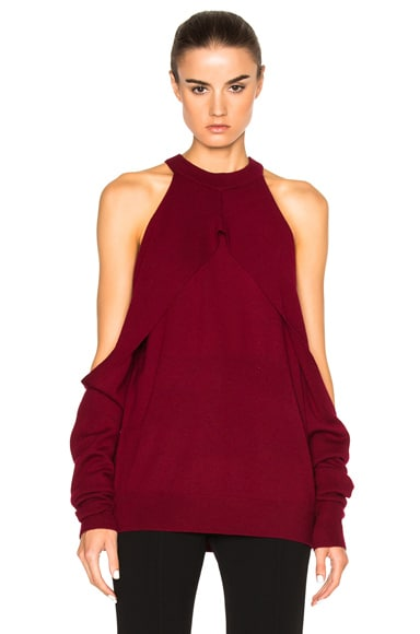 Dion Lee Sleeve Release Sweater in Wine