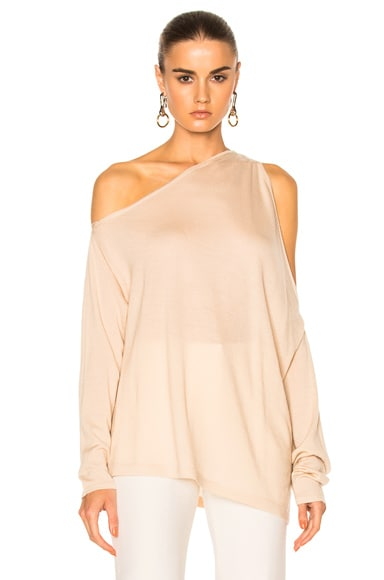 Dion Lee Falling Knit Sweater in Blush