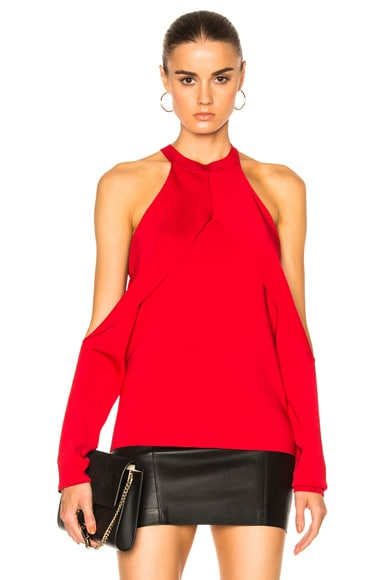 Dion Lee Sleeve Release Evening Knit Top in Cherry