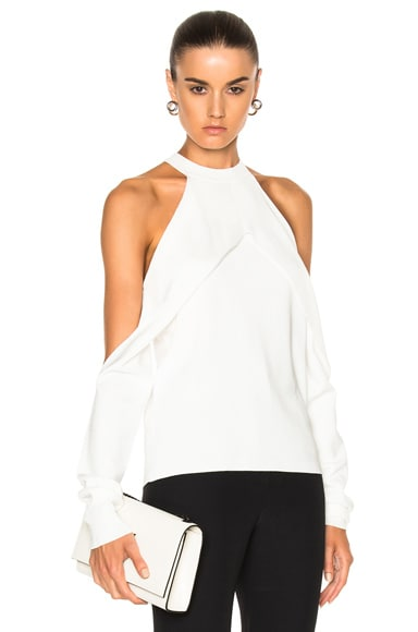 Dion Lee Sleeve Release Evening Knit Top in Ivory