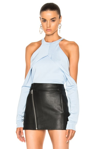 Dion Lee for FWRD Exclusive Sleeve Release Evening Knit Top in Powder Blue