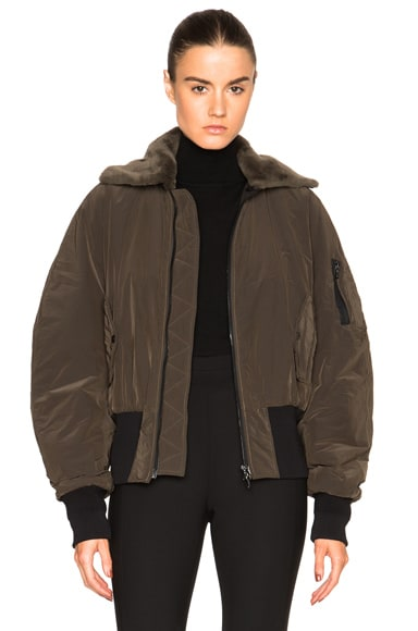 Dion Lee Flight Bomber Jacket in Taupe