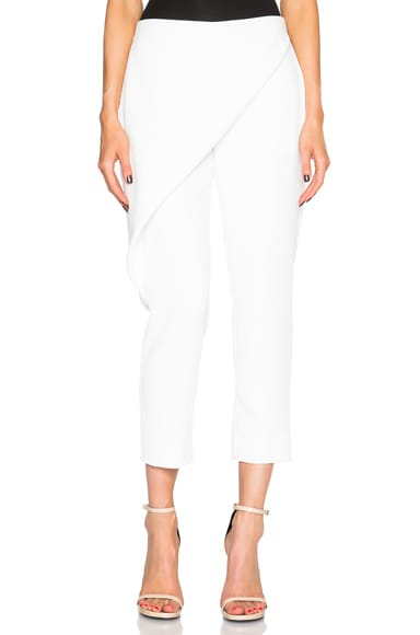 Dion Lee Whitewash Folded Sail Pants in White