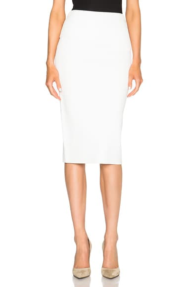 Dion Lee Density Knit Skirt in Ivory & White