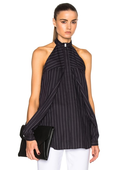 Dion Lee Sleeve Release Top in Striped Navy