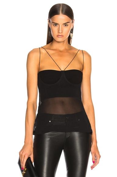 Sheer Solid Cami Top