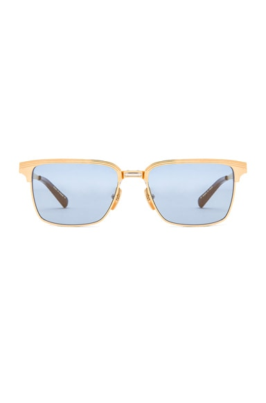Dita Limited Edition Aristocrat Sunglasses in 18K Gold & Blue