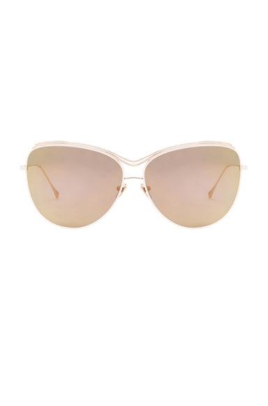 Dita Custom Starling Sunglasses in Pink & Light Gold Mirror