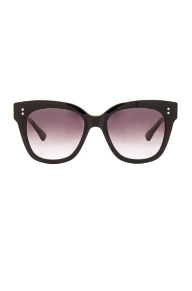Dita 18K Gold Day Tripper Sunglasses in Black