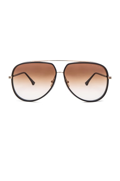 Dita 12K Condor Two Sunglasses in Gold & Dark Brown