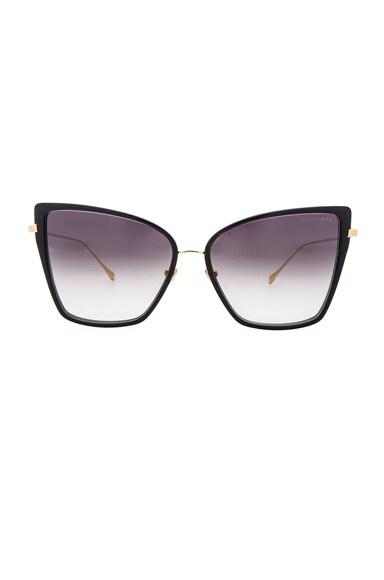 Dita 18K Sunbird Sunglasses in Black & Gold