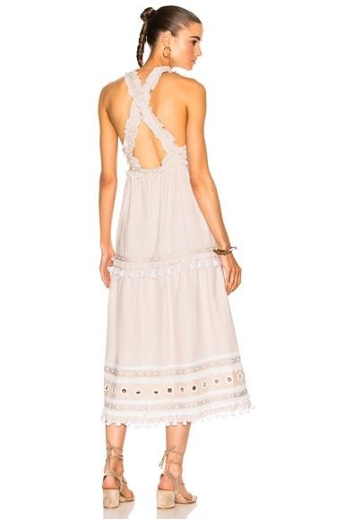 Dodo Bar Or Joseff Dress in Off White & White
