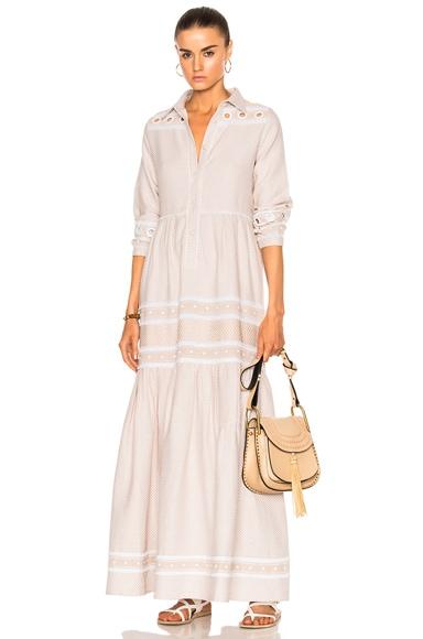 Dodo Bar Or Zuriel Mona Dress in Off White & White