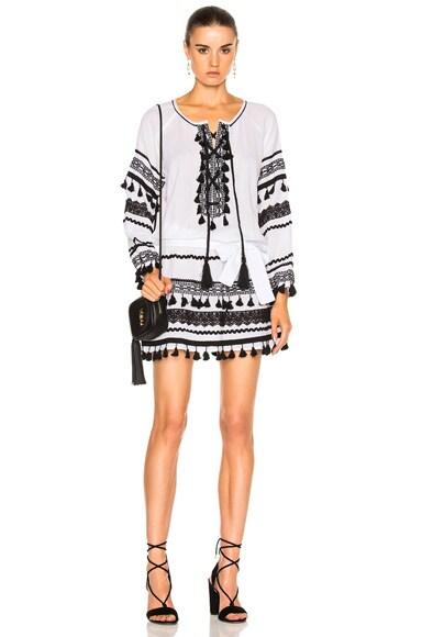 Dodo Bar Or Malka Mini Dress in Black & White