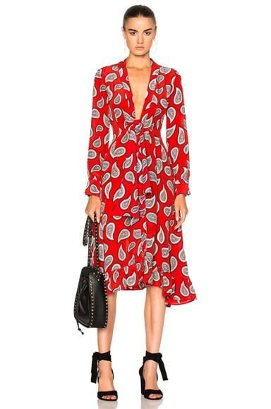 Dodo Bar Or Lennon Dress in Red Paisley